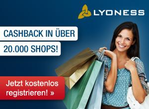 Mit Lyoness profitieren Sie als Lyoness Mitglied bei jedem Einkauf! Sie erhalten Cashback für jeden Einkauf bei über 20.000 Lyoness Partnerunternehmen: durch Online Shopping, Einkauf mit Originalgutscheinen oder Mobile Shopping.