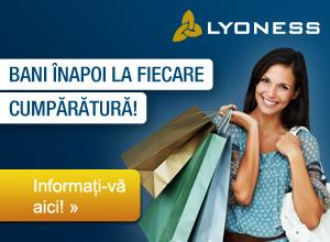 Cu Lyoness profitaţi ca membru Lyoness la fiecare cumpărătură! Veţi primi Cashback pentru fiecare cumpărătură la peste 20.000 parteneri comerciali Lyoness: prin Online Shopping, cumpărături cu bonuri valorice originale sau cumpărături mobile.